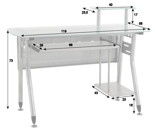 Glas Computertisch, PC-Tisch, Schreibtisch: Amazon.de