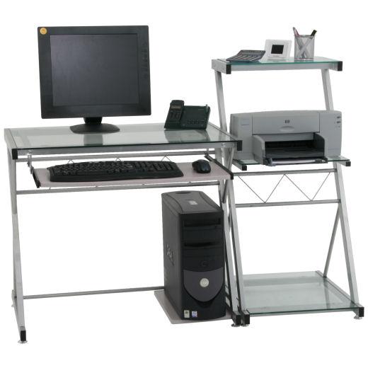 Glas Computertisch, PC-Tisch, Schreibtisch mit