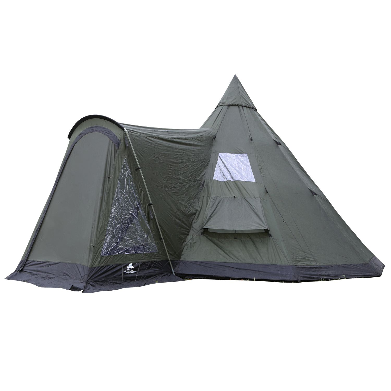 Tipi Zelt Indianerzelt Teepee | Campingzelt Wigwam für Kinder Tippi ...
