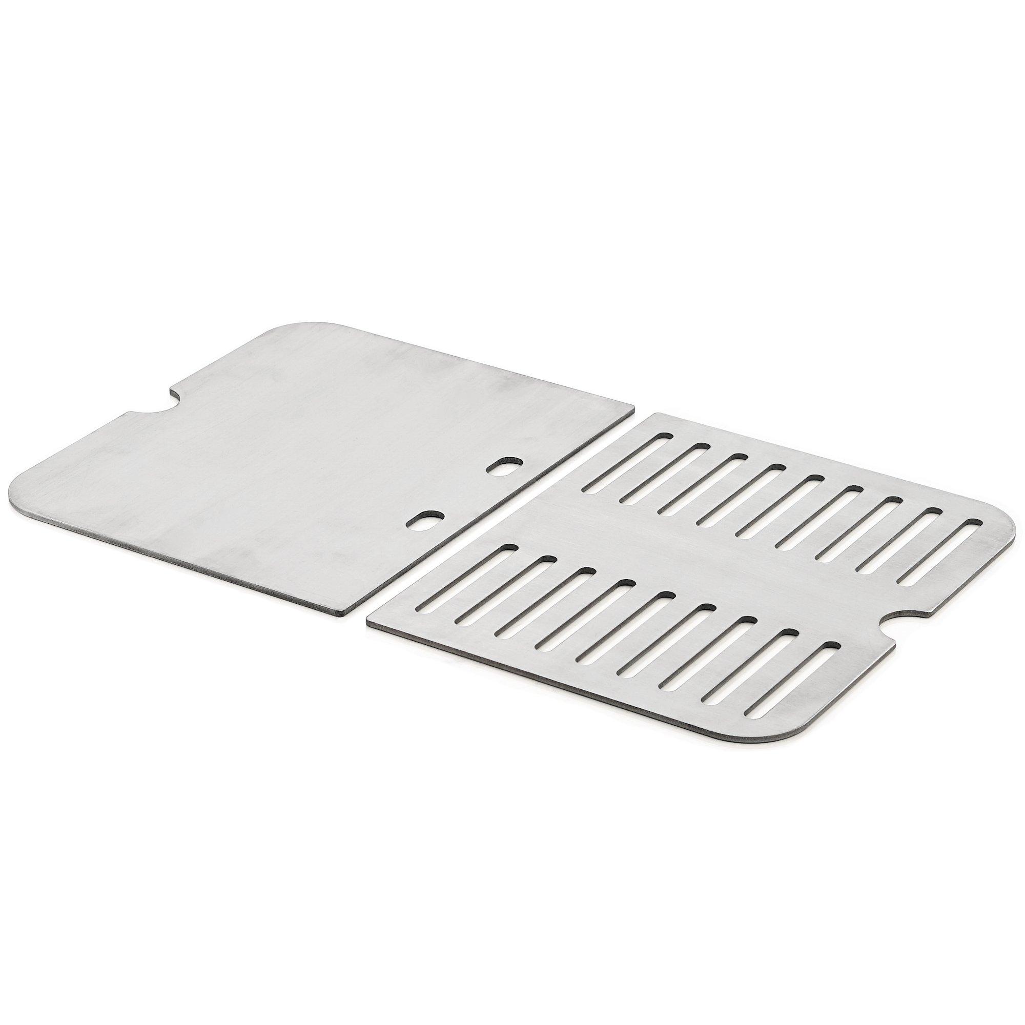 BBQ-Toro Edelstahl Grillplatte und Grillrost passend für Weber Go Anywhere
