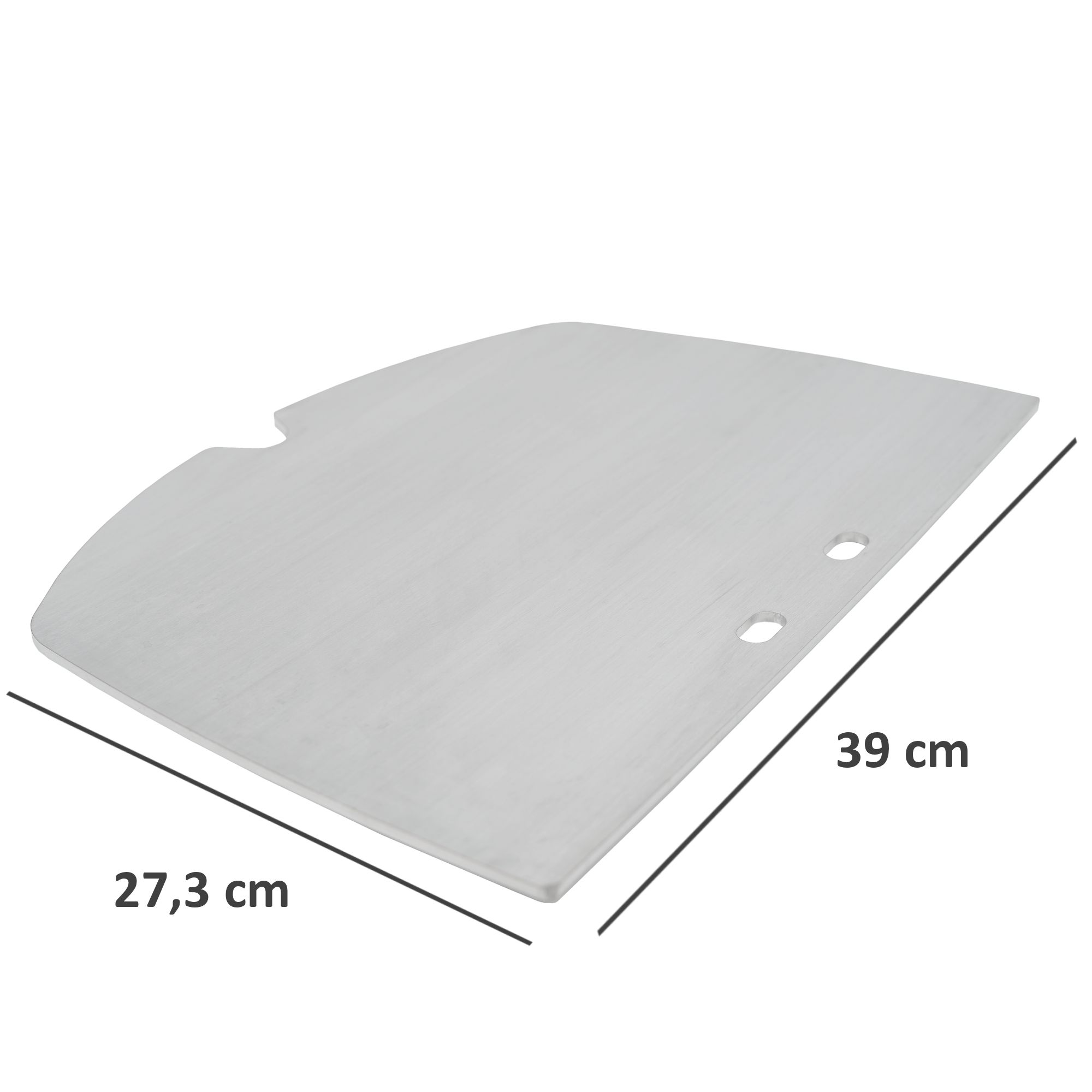 BBQ-Toro Edelstahl Grillplatte passend für Weber Q2000