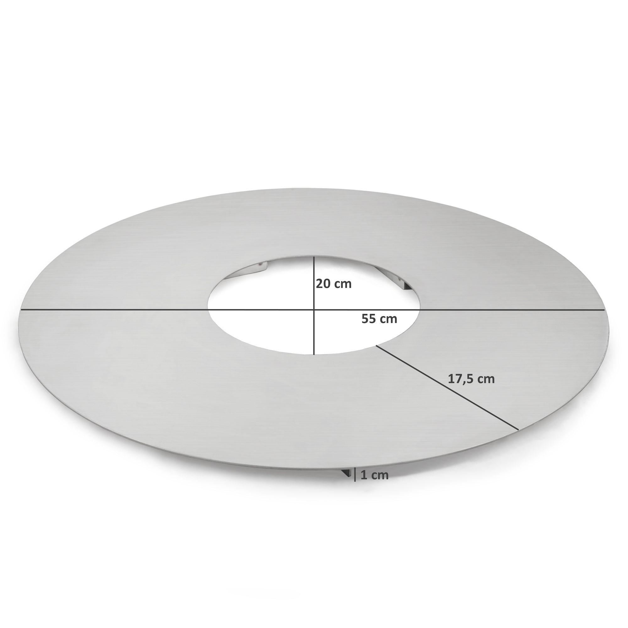 BBQ-Toro Edelstahl Grillplatte für 57er Kugelgrill