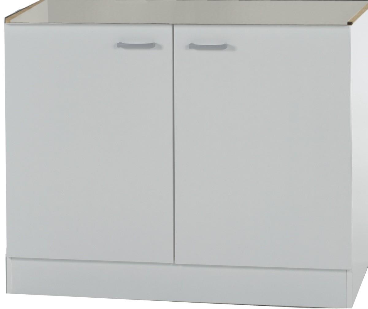KLASSIK60 Spülenschrank 80 cm Breit Weiß SPLO806 | eBay