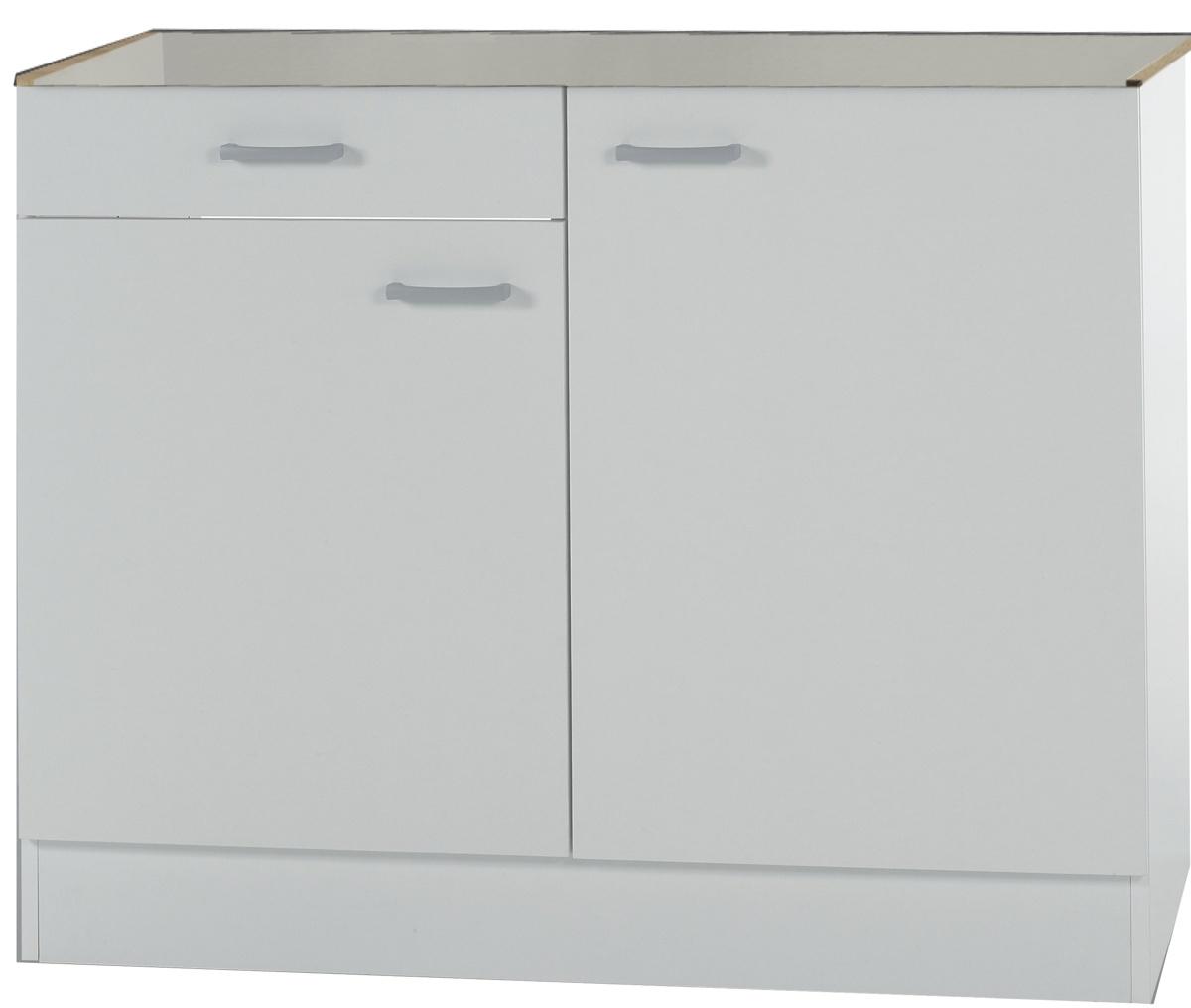KLASSIK60 Spülenschrank 100cm Breit mit Schublade Weiß SPLSO106 ...