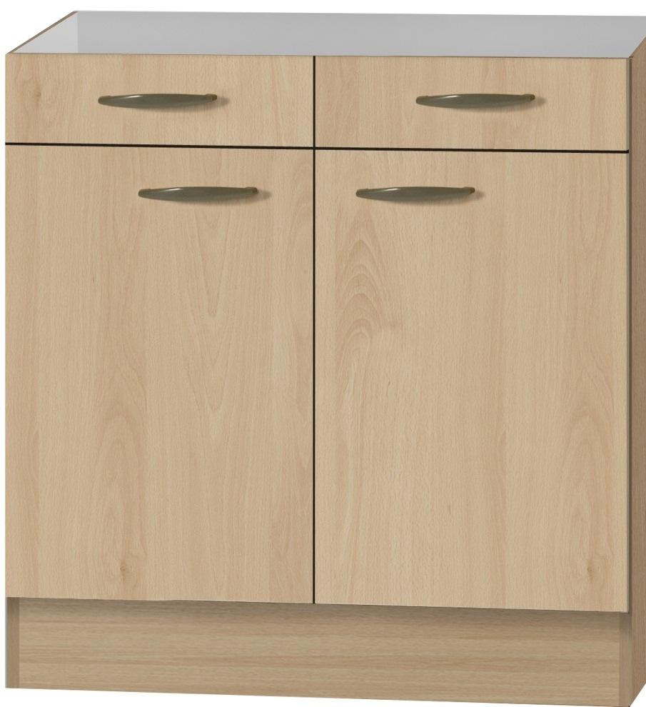 klassik60 sp lenschrank 80 cm breit buche splo806 ebay. Black Bedroom Furniture Sets. Home Design Ideas