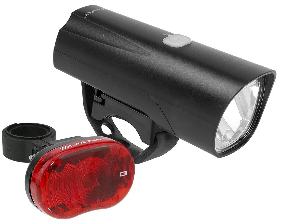 smart fahrradbeleuchtung set 30 lux led scheinwerfer und r cklicht stvzo ebay. Black Bedroom Furniture Sets. Home Design Ideas
