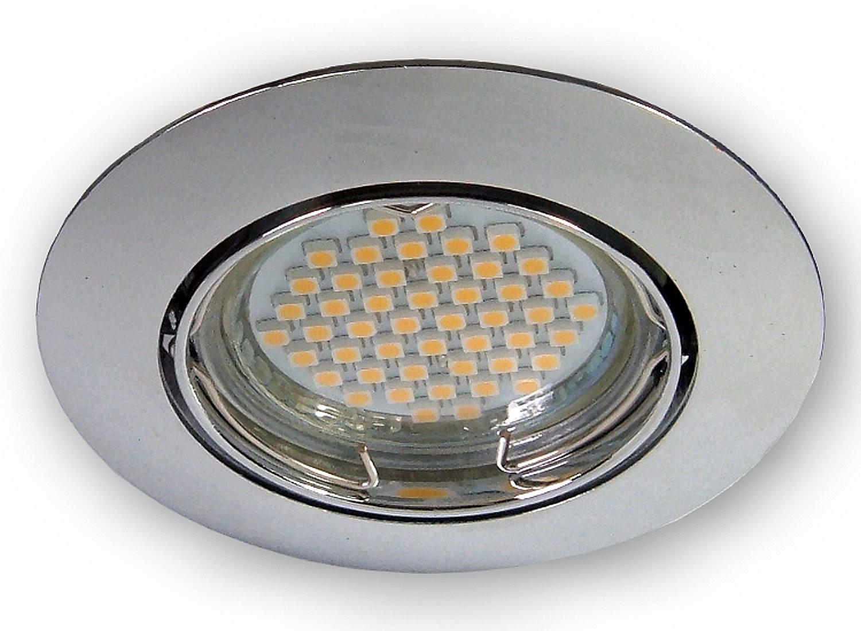 led einbau strahler gu10 einbauleuchte 230 v deckenleuchte spot lampen licht ebay. Black Bedroom Furniture Sets. Home Design Ideas