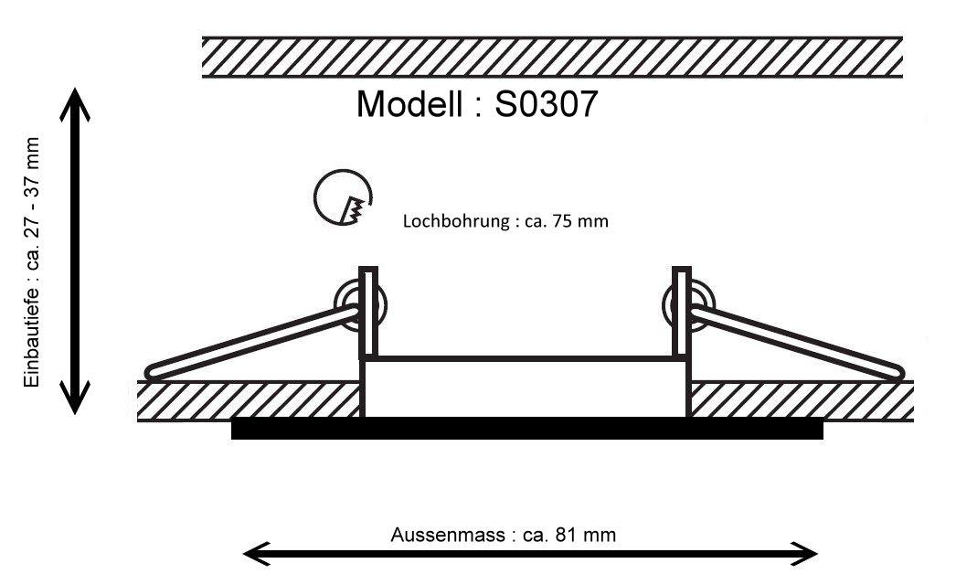 Extrem 230V LED Einbaustrahler Spot 3,5Watt - Einbauspot geringe FE29
