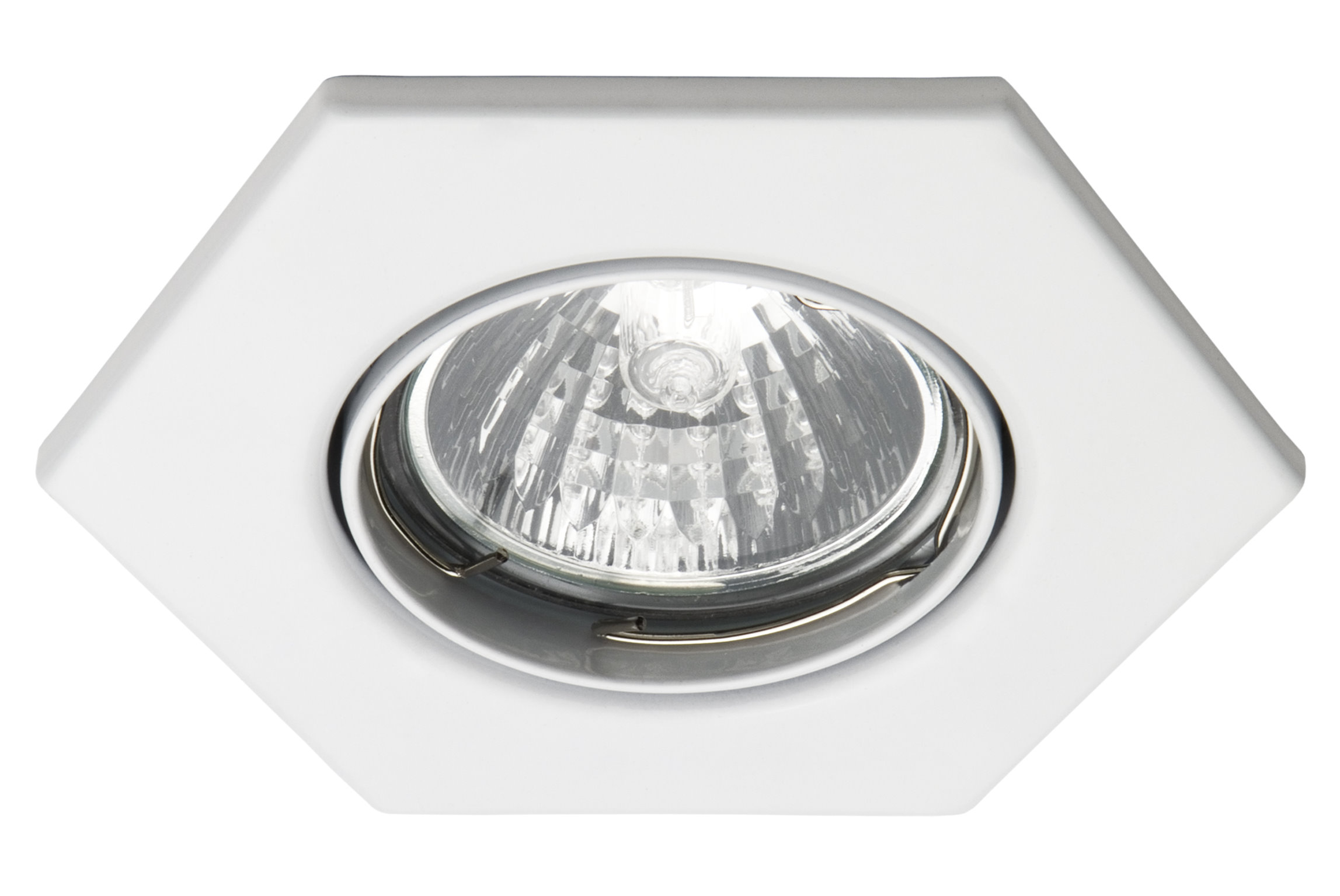 12 v mr16 einbaustrahler f r halogen oder led lampen decken spot 6 eck leuchte ebay. Black Bedroom Furniture Sets. Home Design Ideas