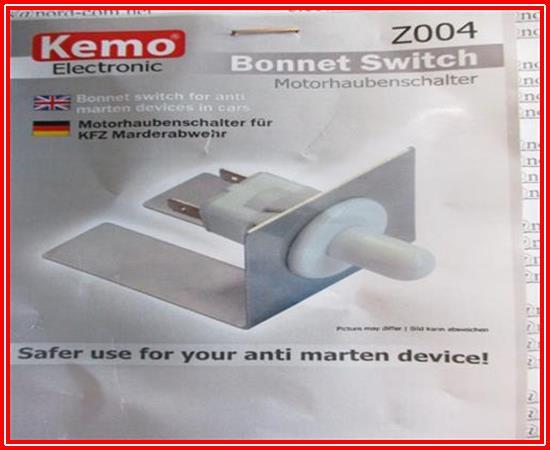 Motorhaubenschalter für KFZ Marderabwehr Z004 Kemo 1 Stück