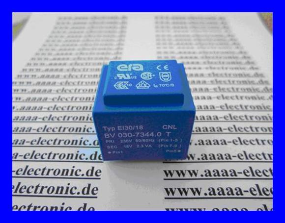 BV030-7344.0T EI30//18 1 Stück Print Trafo 230V//18V 2,3VA  70° Typ