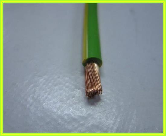 H07V2-K Verdrahtungsleitung Erdungskabel Kabel Grün-Gelb 10mm² 600 ...