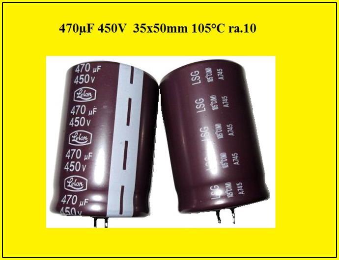 Elko stehend 47µF 63V  ø6,3x11mm RM2,5mm Elektrolyt-Kondensator