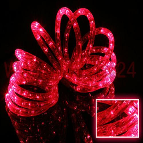 LED Light Tube Light Hose Red 2-50 metre with 8 Flashing Functions Outdoor