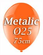 Metallic Luftballons 25er Ø25cm ORANGE