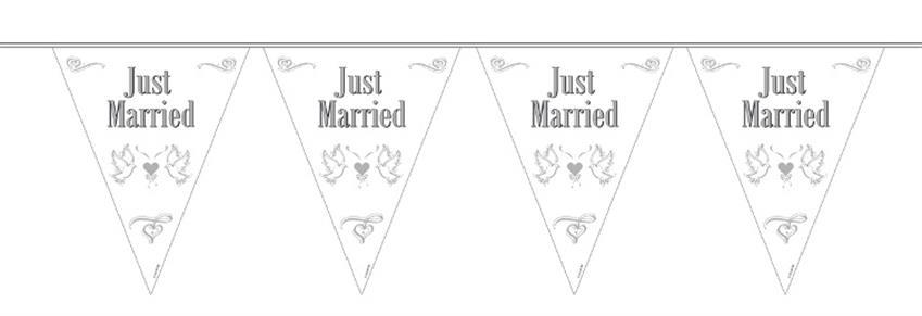 "Wimpelkette ""just married"" 21057"