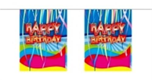Mini-Girlande Papier Happy Birthday  / F22605--