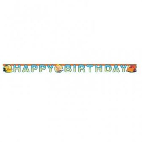 "BOB der Baumeister TEXTKETTE ""Happy Birthday"" a552200"