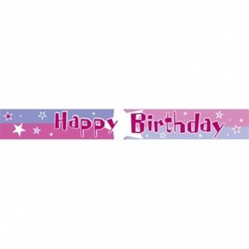 Pink Shimmer BANNER Happy Birthday A991403