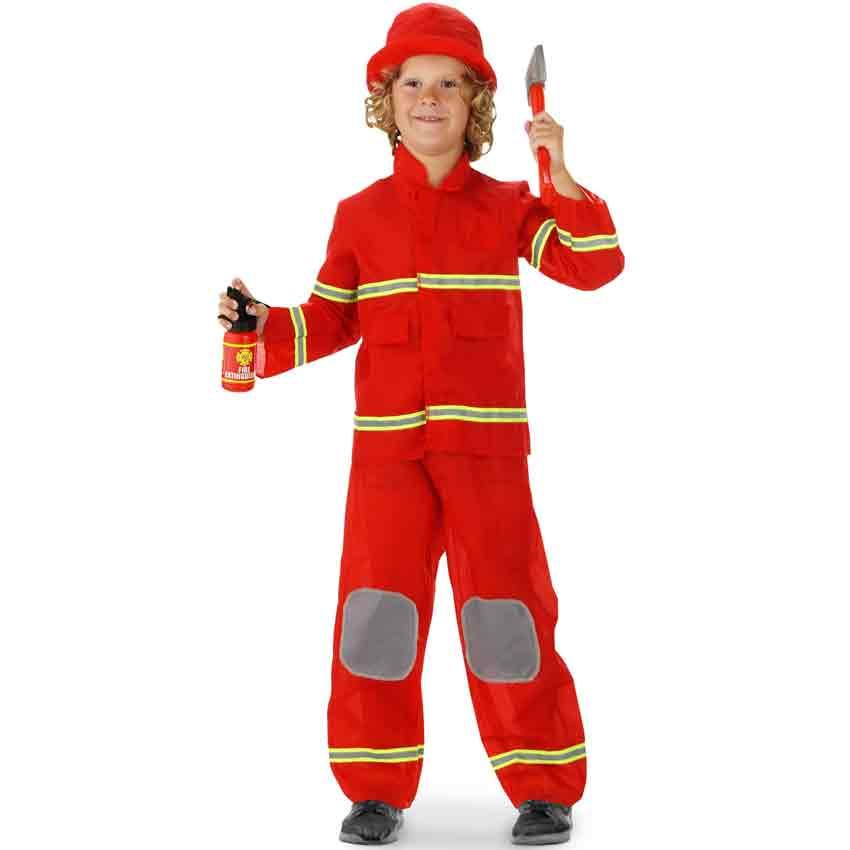 Kinder Kostüm FEUERWEHRMANN Gr S (110/116/122) F21878--