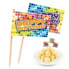 "BIRTHDAY BLOCKS 24 Picker Fähnchen ""Happy Birthday"" F60670"