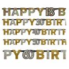 Glamour Gold Happy Birthday Textkette XL Set