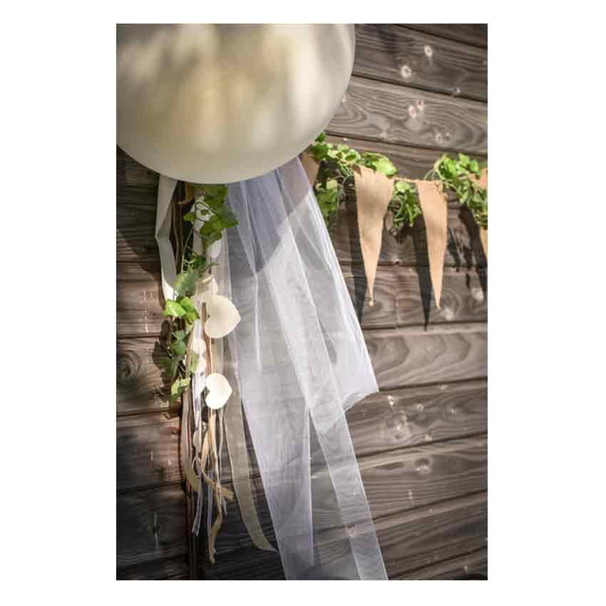 1 67 M Girlande Mit Baumwoll Herzen Natur Hochzeit Vintage