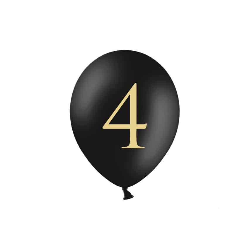 Zahl 4 Schwarz