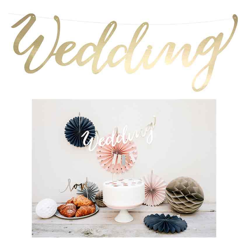 Schriftzug Banner zum Hängen Hochzeit Mr und Mrs rose-gold metallic Deko Wedding