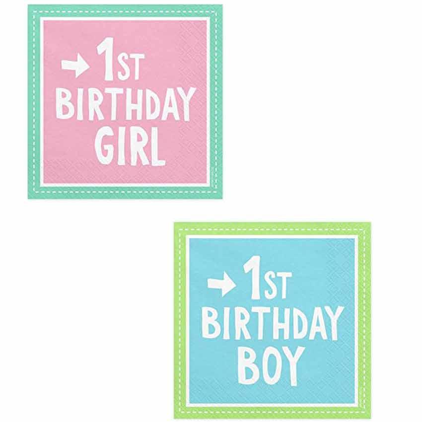 Servietten 1 Geburtstag Junge Oder Madchen Sp33 Auswahl