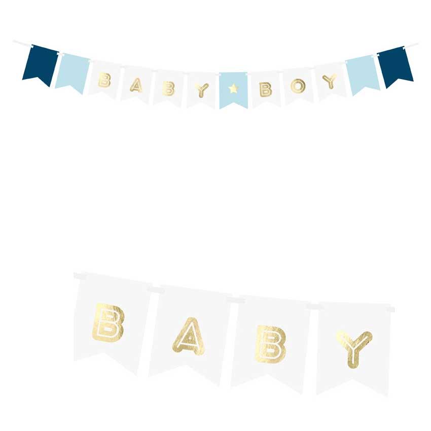 Banner Schriftzug Girlande Baby Shower Girl Boy Mädchen Junge Taufe Party NEU