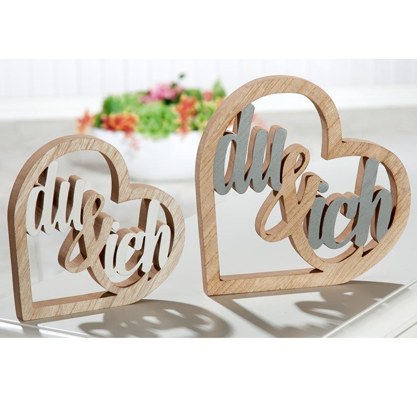 Holz-Aufsteller Herzen