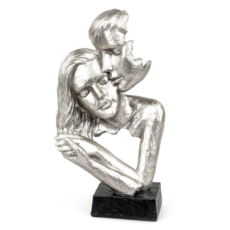 Skulptur Modern Liebespaar Silber Hand In Hand 716101