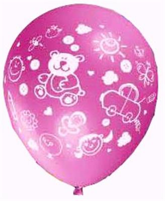 15 bedruckte Luftballons BABY rosa RSP-232/R