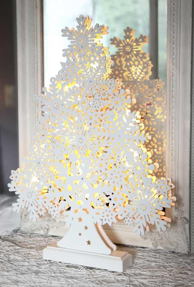 Led weihnachtsbaum tanne schneeflocken holz 11 warmwei e for Haushaltsartikel auf rechnung