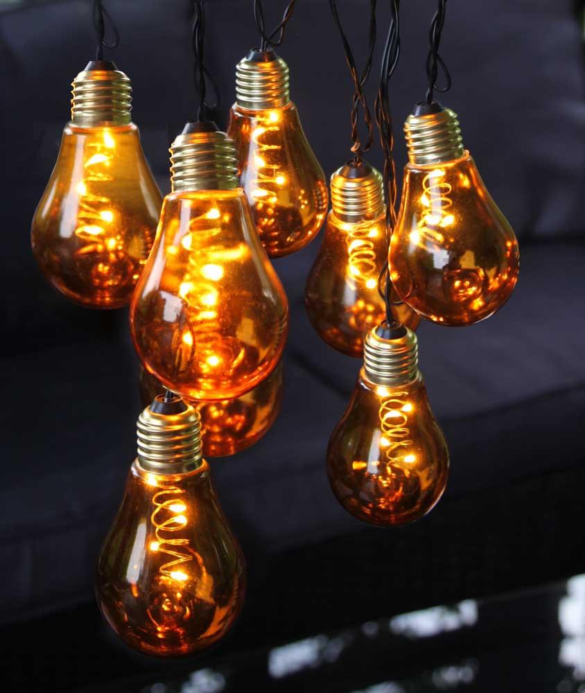 led lichterkette orange gl hbirnen 5x10 led ca 3 6m f r. Black Bedroom Furniture Sets. Home Design Ideas