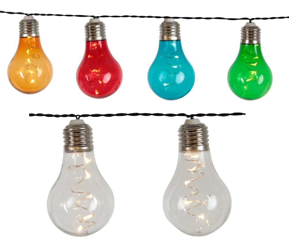 led lichterkette klar o bunt 50 leds dura lights 6 18h timer batterie f r au en ebay. Black Bedroom Furniture Sets. Home Design Ideas