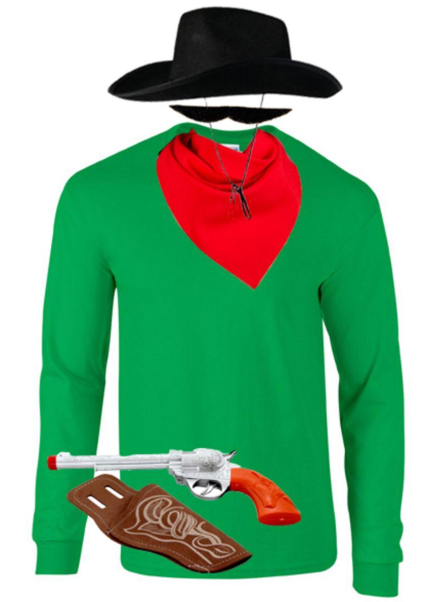 the daltons kost m karneval sweatshirt cowboy. Black Bedroom Furniture Sets. Home Design Ideas