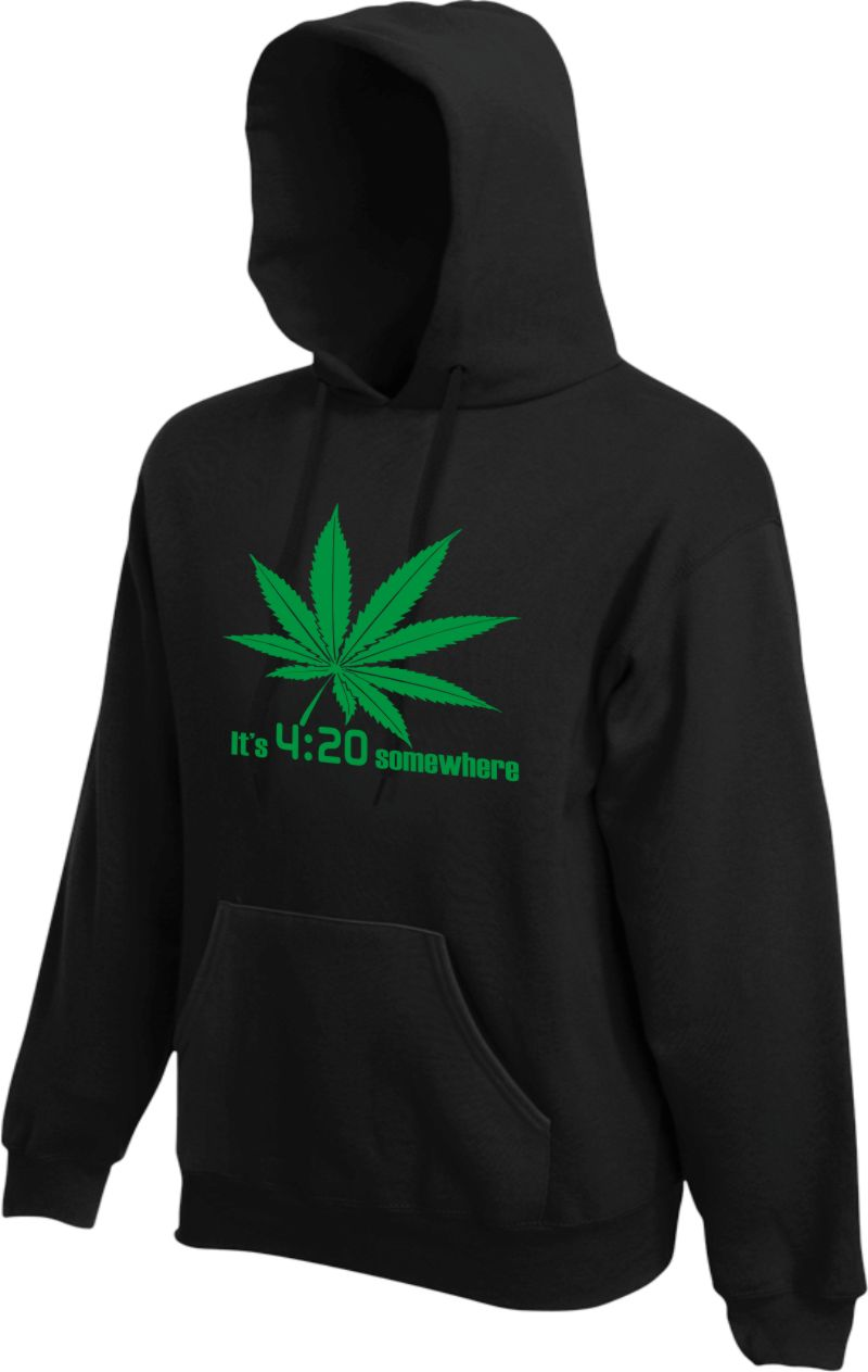 It's 4:20 somewhere Hoodie KAPUZENSWEATER Hipster Dope Joint Marihuana Chillen
