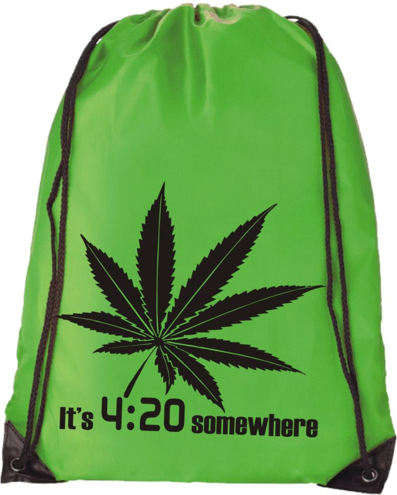 It's 4:20 somewhere Hipster Rucksack Turnbeutel Uni SWAG Tasche Dope Canabis FUN