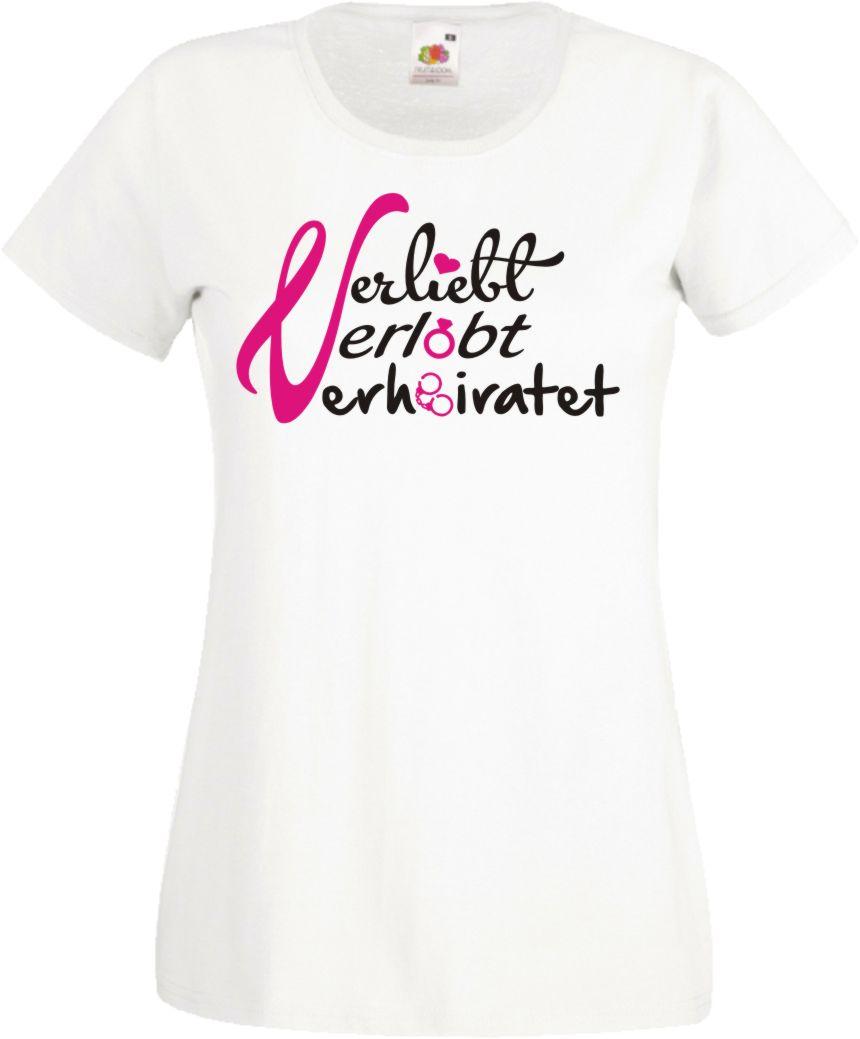 Süßes Jga Damen T Shirt Verliebt Junggesellinnenabschied Braut