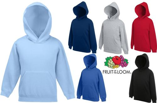 Kinder KAPUZEN SWEATSHIRT 116-164 FRUIT OF THE LOOM NEU