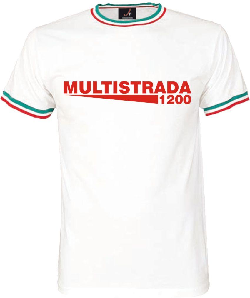 29080b0a5f03a0 Multistrada T-Shirt für Ducati Motorrad Fans Italian Design Herren Shirt  Edel