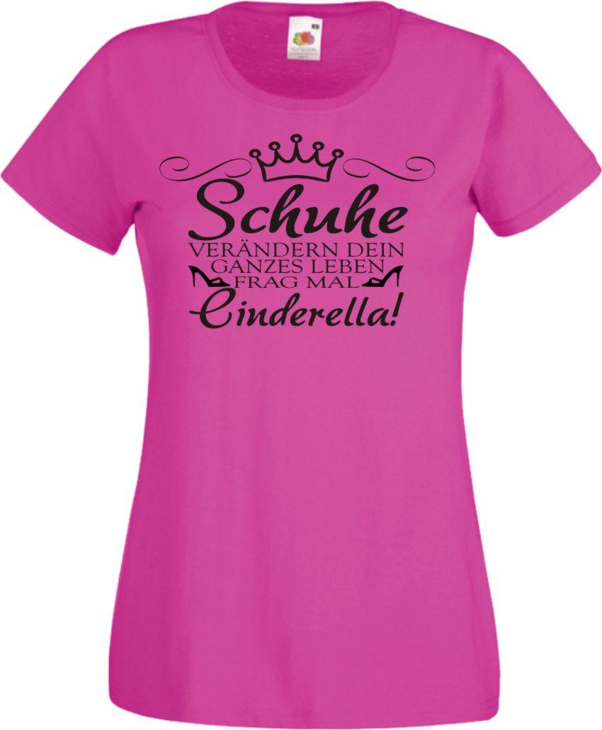 Schuhe Verändern Dein Leben Damen T Shirt Für Cinderella Und Schuh