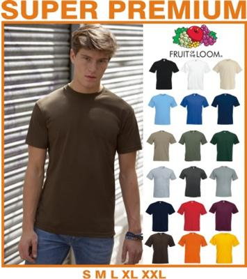 Fruit of the Loom SUPER PREMIUM T-Shirt S M L XL XXL