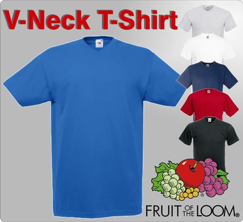 FRUIT OF THE LOOM V-Neck T-Shirt V-Ausschnitt S-XXL