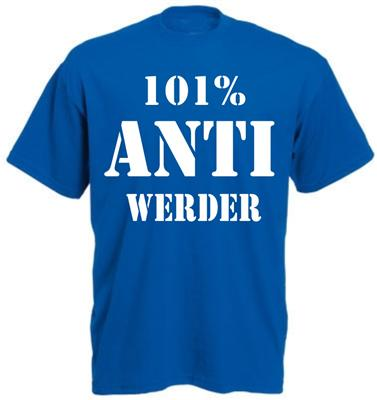 101% ANTI WERDER cooles Hamburg Fan T-Shirt S-3XL NEU