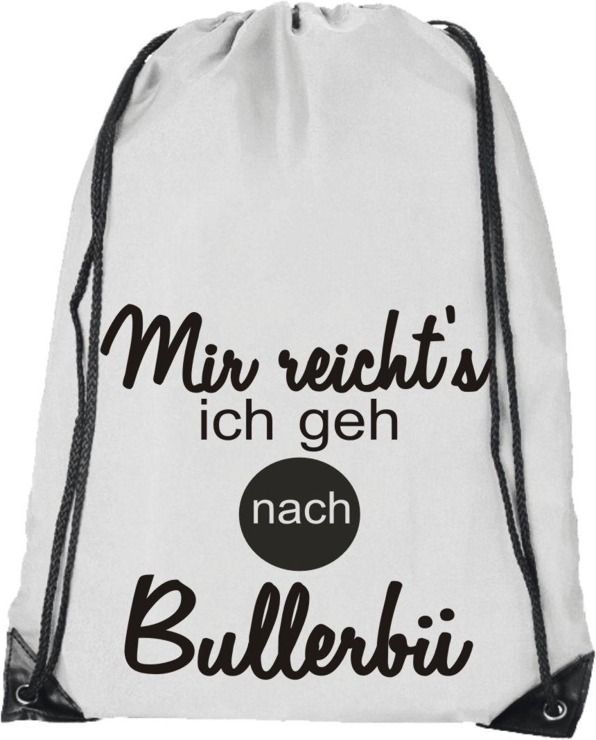 d063c5f24585b Mir reicht s Bullerbü Rucksack Turnbeutel Hipster Fun Uni SWAG Beutel Gymsac