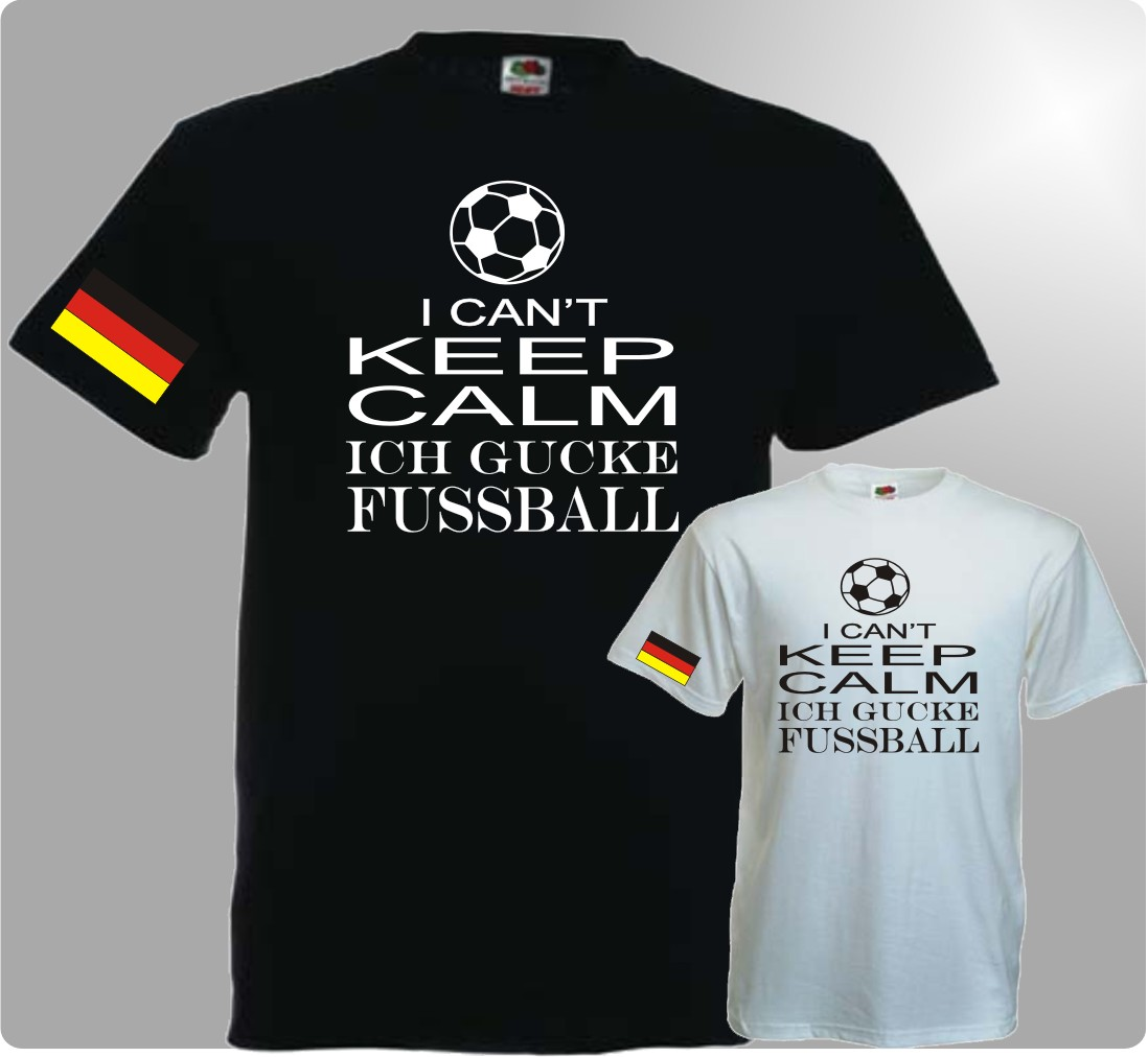 Herren T-Shirt Can't keep FUSSBALL WM 2018 Deutschland Fanmeile Germany Trkot