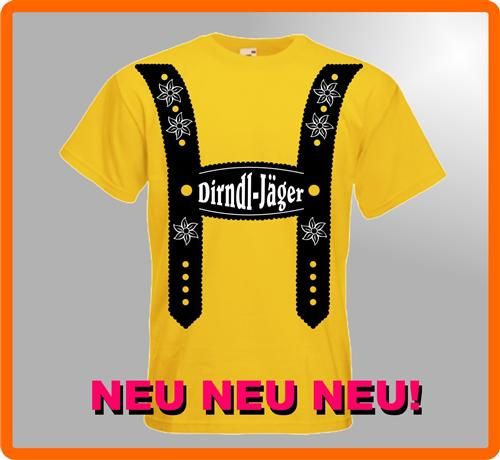 DIRNDL-JÄGER Oktoberfest Kult Wiesn T-Shirt Kostüm WOW Top Angebot Party